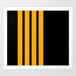Captain Pilot Stripes Art Print