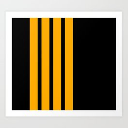 Captain Pilot Stripes Art Print
