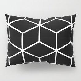 Black and White - Geometric Cube Design II Pillow Sham