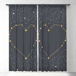 Heart Constellation Blackout Curtain