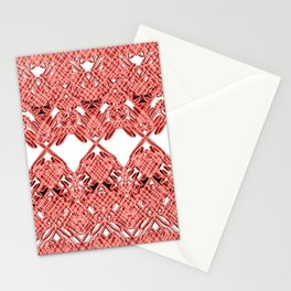 Red Lace Royshay  Stationery Cards