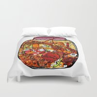 vegetables Duvet Covers featuring Preserved vegetables by ChiLi_biRó