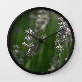 Lavender Buds and Bug Wall Clock