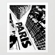 Cities in Black - Paris Art Print