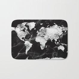 world map marble 4 Bath Mat