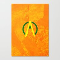 aquaman Canvas Prints featuring Aquaman by Some_Designs