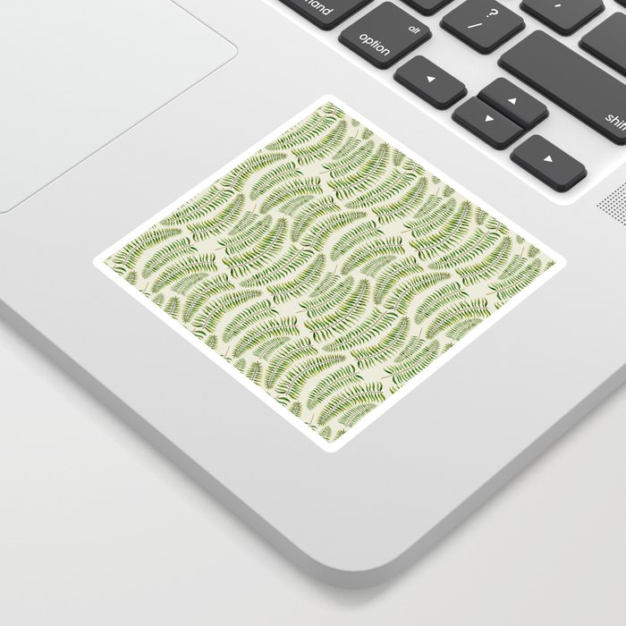 Palm leaves in tiger print Sticker