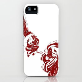 Rapunzel - brothers Grimm illustration iPhone Case