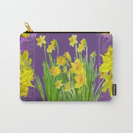 DAFFODIL SPRING GARDEN & PURPLE  DESIGN ART Carry-All Pouch