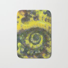 Abstract Art by Tito. Sunflower Bath Mat