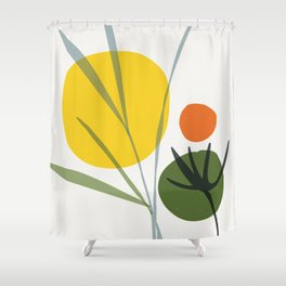 zen garden wilderness Shower Curtain