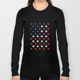 Red White And Blue Stars Flag Usa America Patriotic Murica Veteran T-Shirts Long Sleeve T-shirt