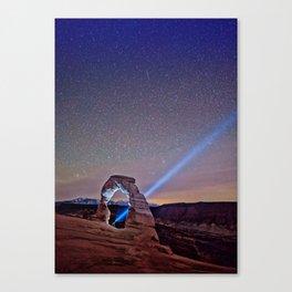 Starry Night Pointer Canvas Print