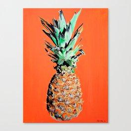 Pineapple pop art painting Canvas Print