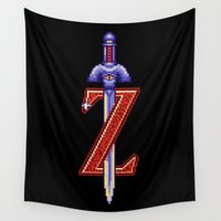 sword Wall Tapestries featuring Skyward Sword by Naavech Verro