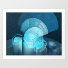 Netrunner - Security Nexus Art Print