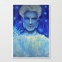 jack frost Canvas Prints featuring 'Jack Frost' by Katja K