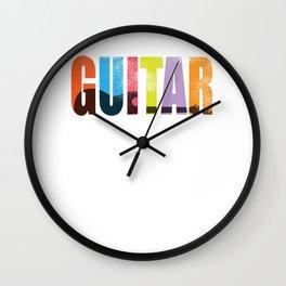guitar musician band rock music bass gift Wall Clock