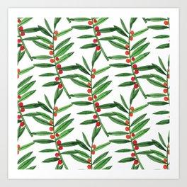 Botanic Watercolor Collection #20 Art Print