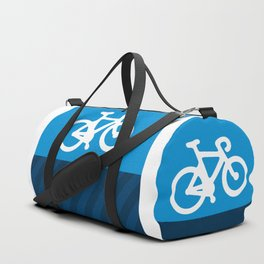 Blue Bike Duffle Bag