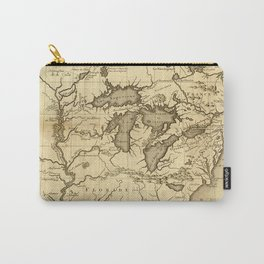 Great Lakes Map - 1737 Carry-All Pouch