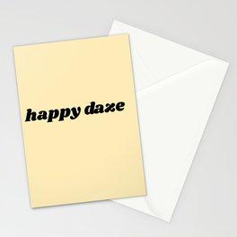 happy daze Stationery Cards