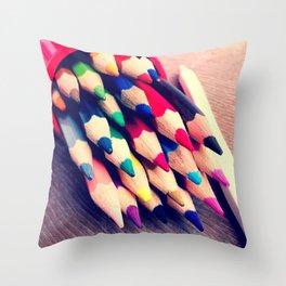 Colour Pencils Throw Pillow