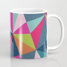 Geometric Triangle Pattern  - Spring Color Palette - Coffee Mug