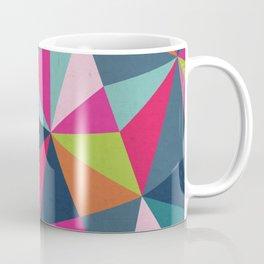 Geometric Triangle Pattern  - Spring Color Palette - Coffee Mug