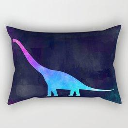 BRACHIOSAURUS IN SPACE // Animal Graphic Art // Watercolor Canvas Painting // Modern Minimal Cute Rectangular Pillow
