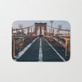 Golden Hour On Brooklyn Bridge Bath Mat