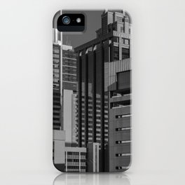 Black and White City iPhone Case