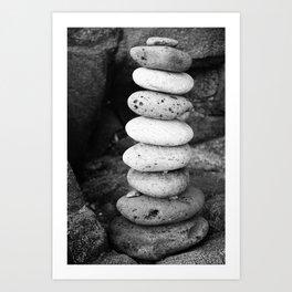 Stacked pebbles Art Print