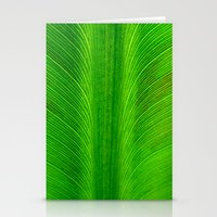 banana leaf Stationery Cards featuring Banana Leaf by moo2me