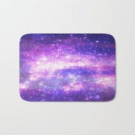 Purple Pastel Stars Bath Mat