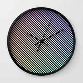 Neon Rainbow Wall Clock