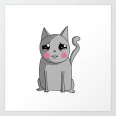 Cat with the Sad Eyes Art Print