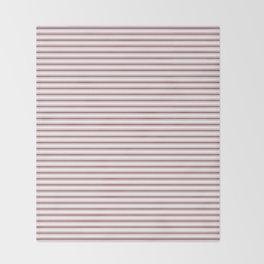 Dark Red Pear Mattress Ticking Narrow Striped Pattern - Fall Fashion 2018 Throw Blanket