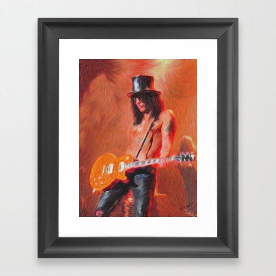 Guitar God -  Framed Art Print