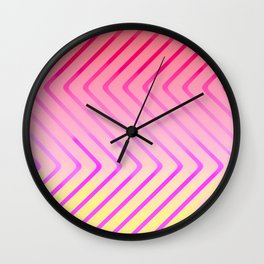 Pop Art Op Art in Red Wall Clock
