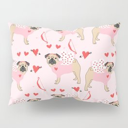 Pug love cupid dog costume valentines day pet gifts pugs Pillow Sham