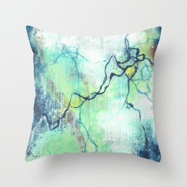 Electrostatic Frequency Throw Pillow