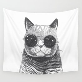 cool cat Wall Tapestry