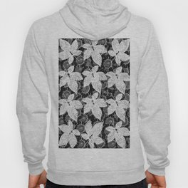 Flower pattern in black and white Hoody