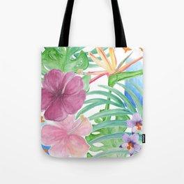 Malia's Tropical Print Tote Bag
