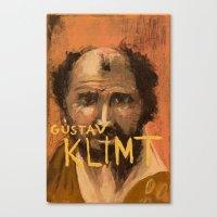 gustav klimt Canvas Prints featuring 50 Artists: Gustav Klimt by Chad Beroth