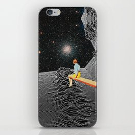 unknown pleasures to Infinity iPhone Skin