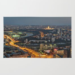 Moscow Cityscape Rug