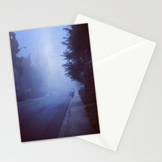 Night road Stationery Cards