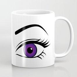 Violet Eyes (Both Eyes Open) Coffee Mug